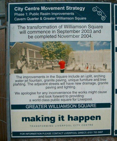 Sign in Williamson Square