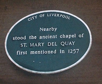 The chapel of St Mary del Quay plaque
