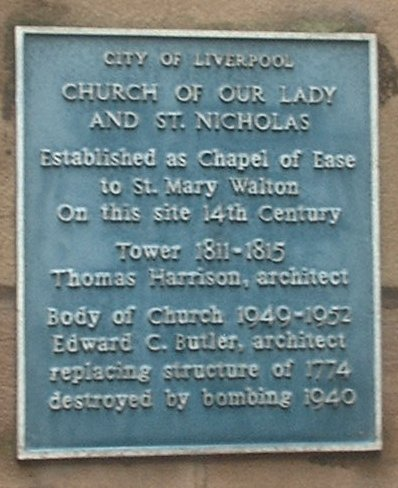 History of Our Lady and St Nicholas plaque