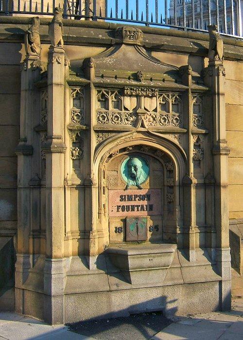The Simpson fountain at St Nicholas Anglican Church