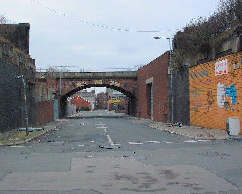 Looking down Spraing Street off Love Lane