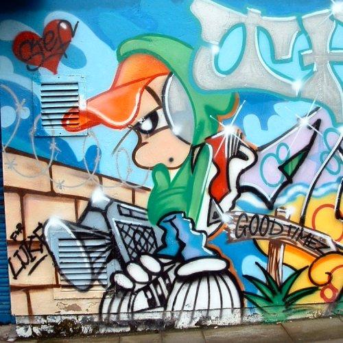 Graffito in Liverpool - Wolstenholme Square