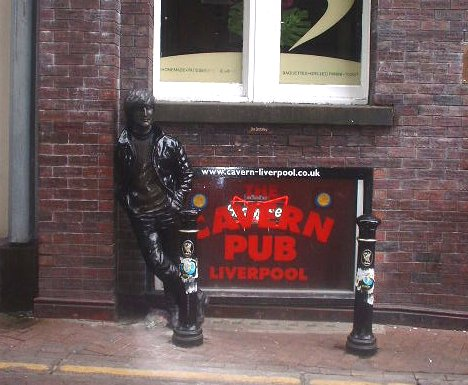 John Lennon statue outside the Cavern Pub in Mathew Street