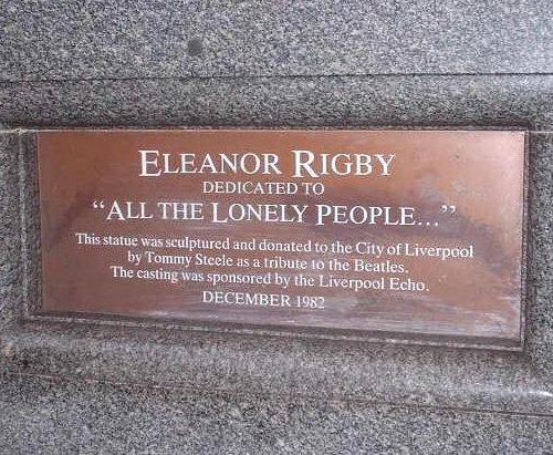 The Eleanor Rigby plaque