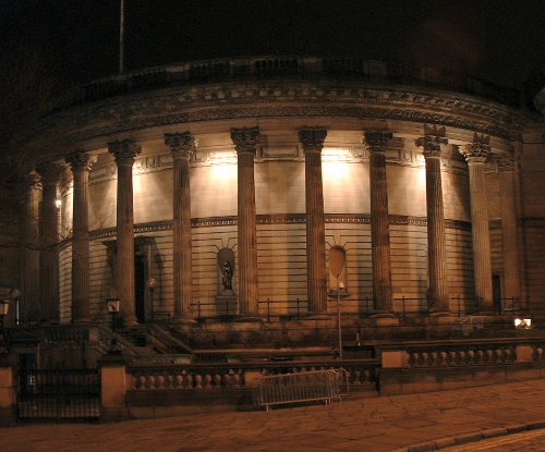 Picton Reading Room and Hornby Library at night