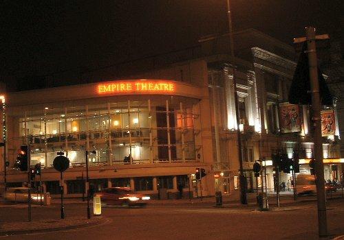 The Empire Theatre at night