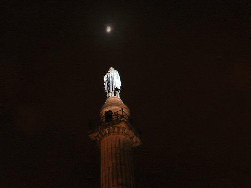 The Wellington Column at night