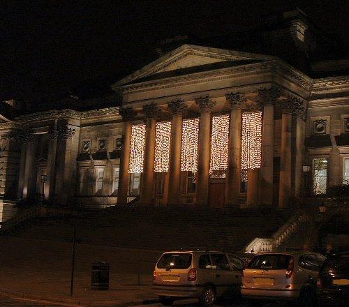 Liverpool Museum at night