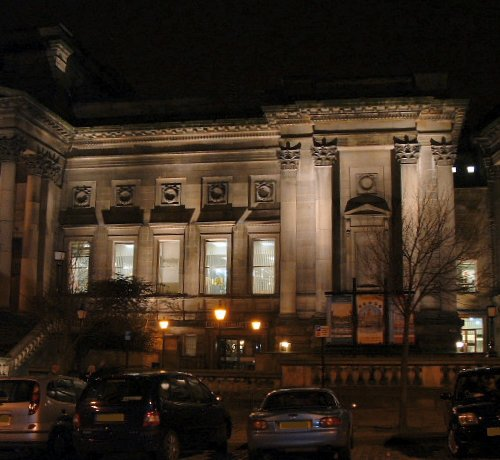 William Brown Street Library at night