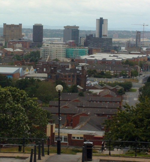 A view across the city from Everton Park