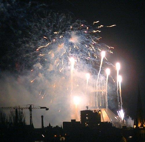 Liverpool firework display New Years Eve 2004