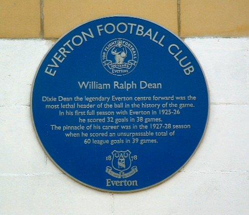 Dixie Dean plaque