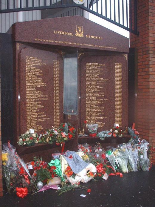 Hillsborough memorial flame