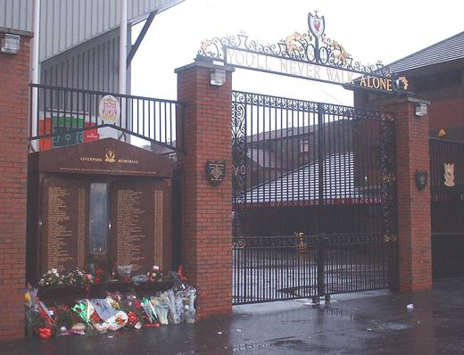 Memorial Flame and the Shankly Gates