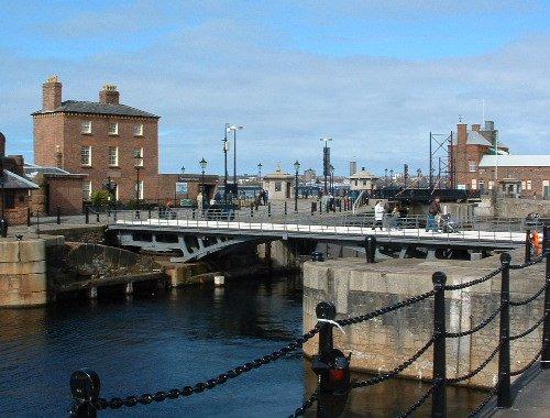The Hartley Bridge at the Albert Dock
