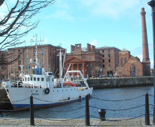 The Madog ship in the Canning Dock