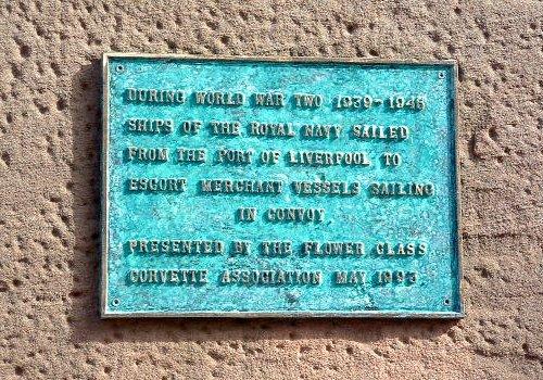 Plaque at the Albert Dock