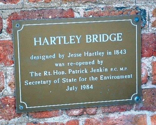 Hartley Bridge plaque at the Albert Dock