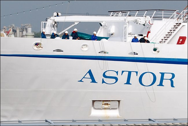 MS Astor on the Mersey