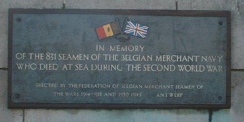 Belgian Merchant Navy Memorial Plaque