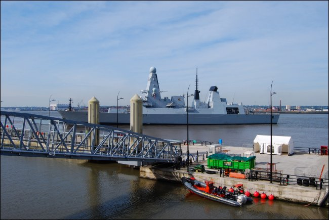HMS Daring on the Mersey