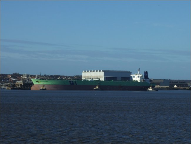The BW Bauhinia on the Mersey