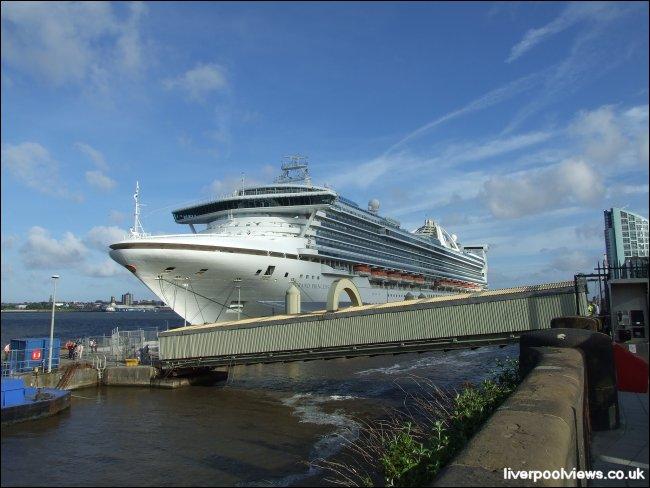 The Grand Princess visits Liverpool