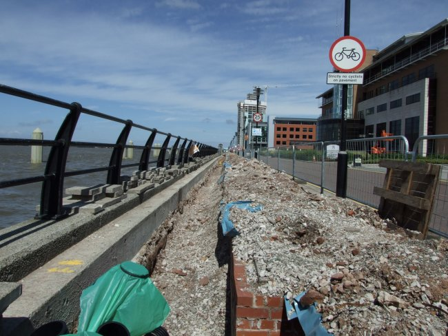 The new Princes landing stage in Liverpool