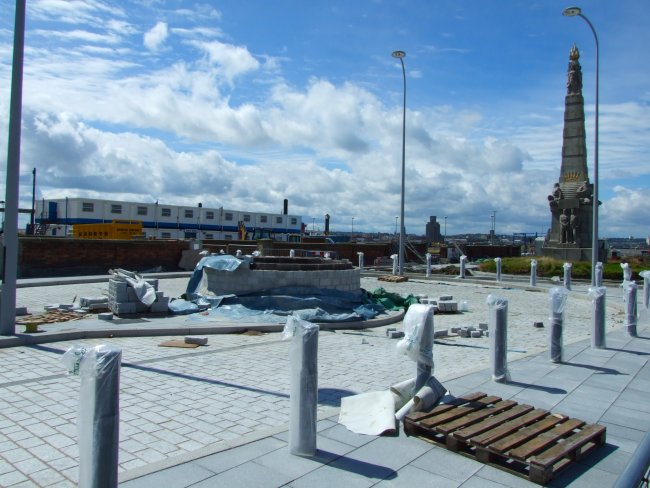 The new Princes Dock marshalling area in Liverpool