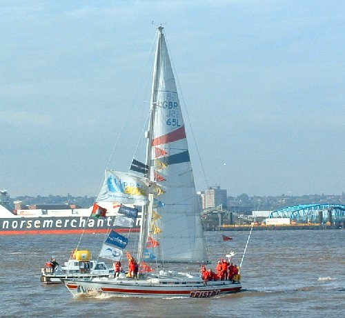 The Bristol Clipper on the Mersey