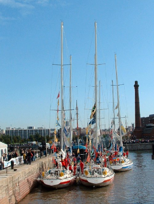 The Clipper Yachts in the Canning Half Tide Dock