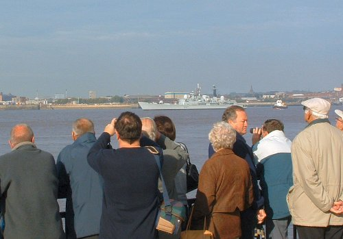 HMS Edinburgh - warship that escorted the Clippers down the River Mersey