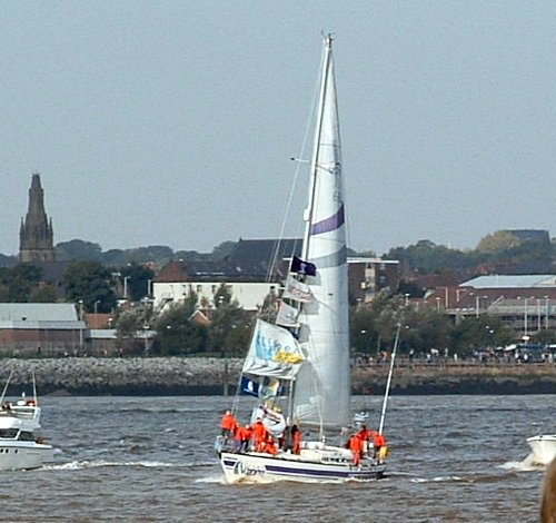 The Liverpool Clipper returning home after 11 months at sea