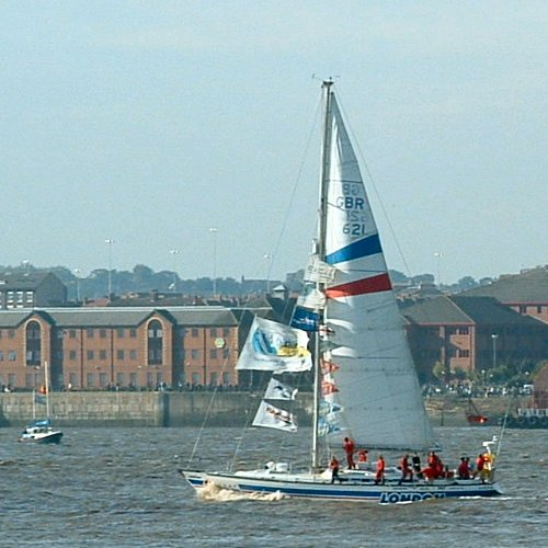 The London Clipper on the Mersey