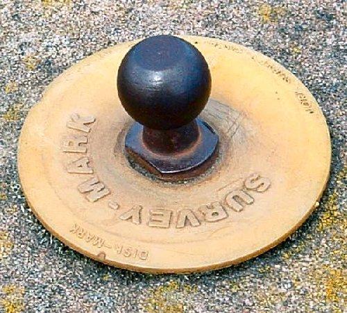 A survey mark on the sea wall at the Pierhead