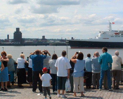 The Queen Elizabeth II visits Liverpool in 2004