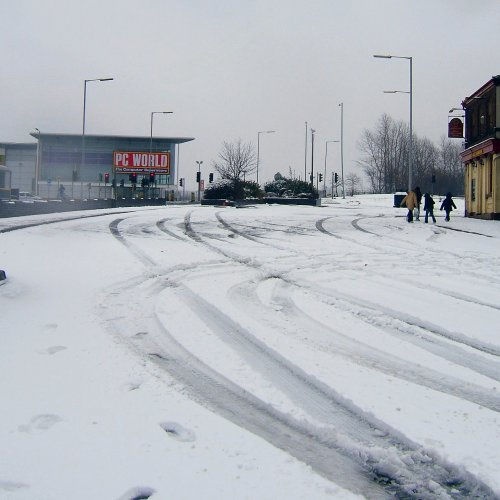Garston in the snow - 12th March 2006