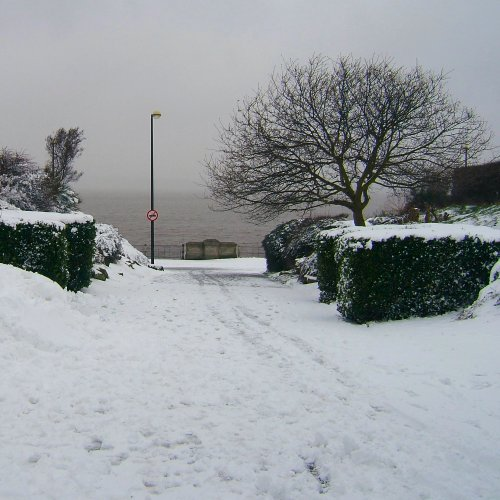 Otterspool in the snow - 12th March 2006