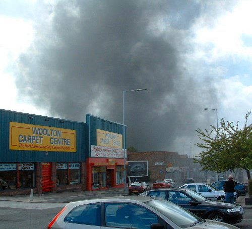 Fire on Speke Road in Garston Village - 27th April 2003