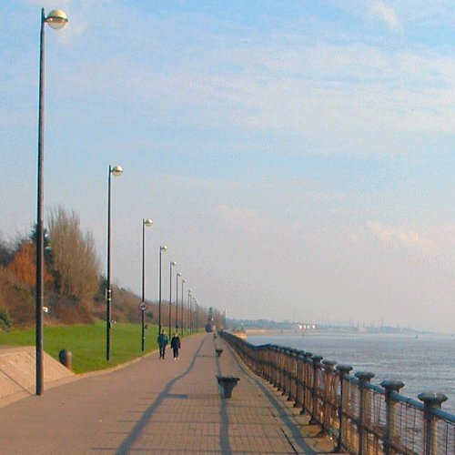 Otterspool on the Mersey shore