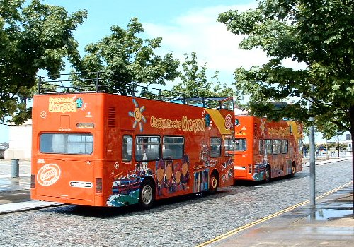 The buses at the Pier Head