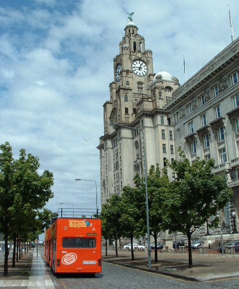 The bus at the Pier Head