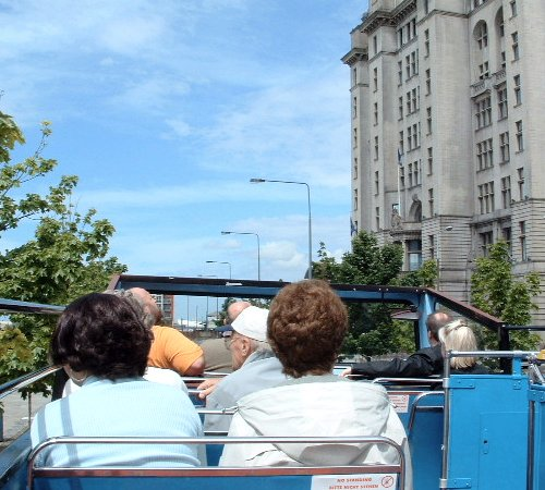 On the bus at the Pier Head